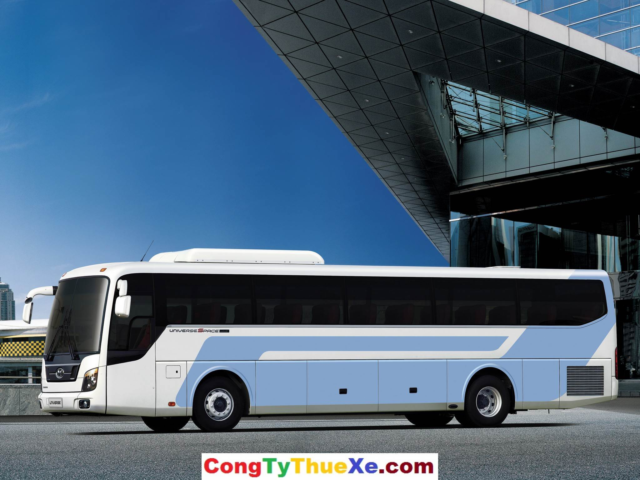 Cho thuê xe du lịch 45 chỗ Hyundai Univer giá rẻ