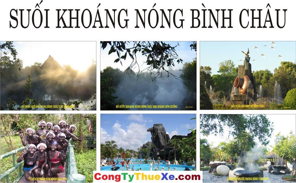 Thuê xe tour du lịch suối nước nóng Bình Châu