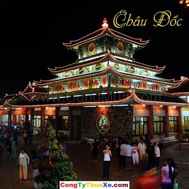 thuê xe tour hành hương Chùa Bà Châu Đốc