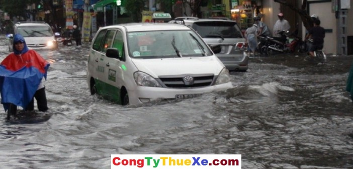 Lái xe dưới mưa